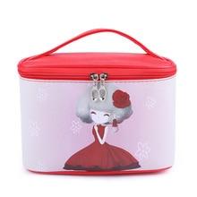 2018 Cartoon Makeup Organizer Bags Women Cosmetic Bags Travel Wash Bag  Toiletry Big Capacity Handbag Drop Shipping Pu Leather
