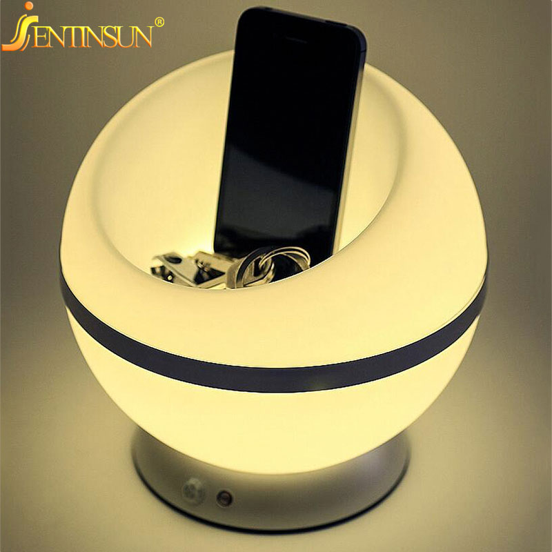 2016 Modern Light And PIR Motion Sensor LED Night Lights Table Lamp Ball Shape Atmosphere Battery Desk Lighting Bedside Lamps цена 2017