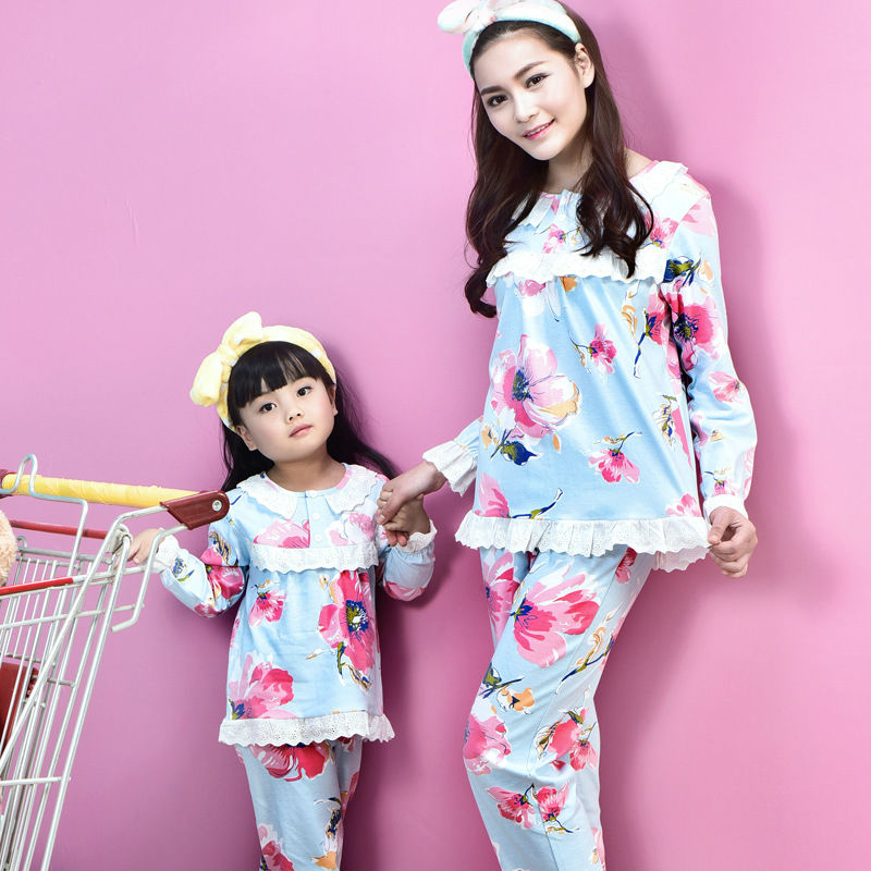 family christmas pajamas 2016 mother and daughter clothes (14)