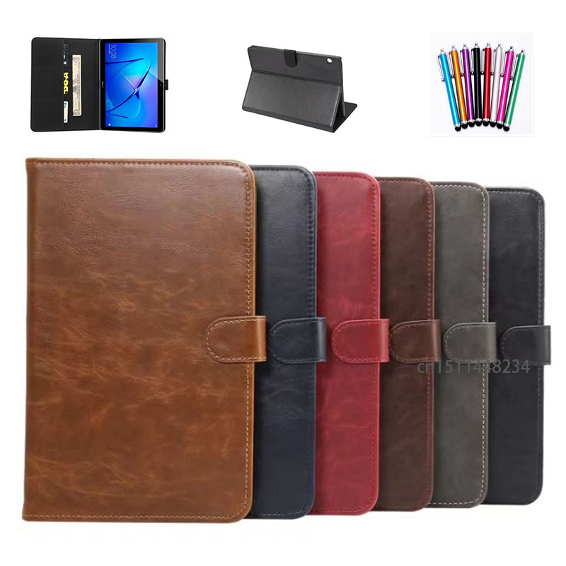 For Huawei MediaPad T3 10 Leather Magnetic smart Solid Folding Cover Case For Huawei MediaPad T3 10 tablet funda AGS-L09 AGS-L03 luxury business case for huawei mediapad t3 10 ags l09 ags l03 9 6 inch cover funda tablet leather hand belt holder stand shell