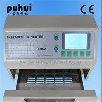 PUHUI T 962 T962 печи оплавления инфракрасный обогреватель пайки машина 800 Вт 180x235 мм T962 для BGA SMD SMT паяльная