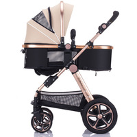 High view four wheel baby strollers 3 in 1 high quality strollers for new born baby rubber wheel strong frame