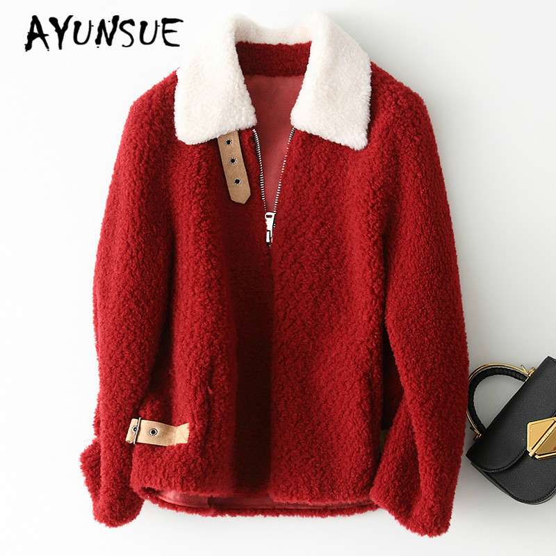 ac594929c9c AYUNSUE 2019 New Winter Autumn Warm Real Fur Coat Female Casual Natural  Lamb Ful Jackets for Women Jacket Short Fur Coats 19009-in Real Fur from  Women's ...