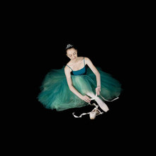 Ballerina Ballet Green 2 Layers Mesh Lace Adult Dance Long Tulle Elastic Waist Skirts Adults Women Swan Lake Performance Skirt(China)