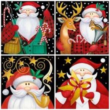 MomoArt Diamond Embriadery Cartoon Painting Full Square Rhinestone Mosaic Christmas Home Decoration