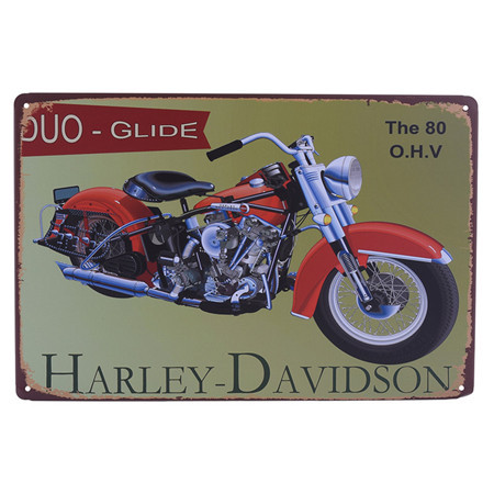 Vintage Metal Tin Sign Motorcycle Retro Plaque Poster Bar Pub Club Wall Tavern Garage Home Decor 8 Style 1pcs