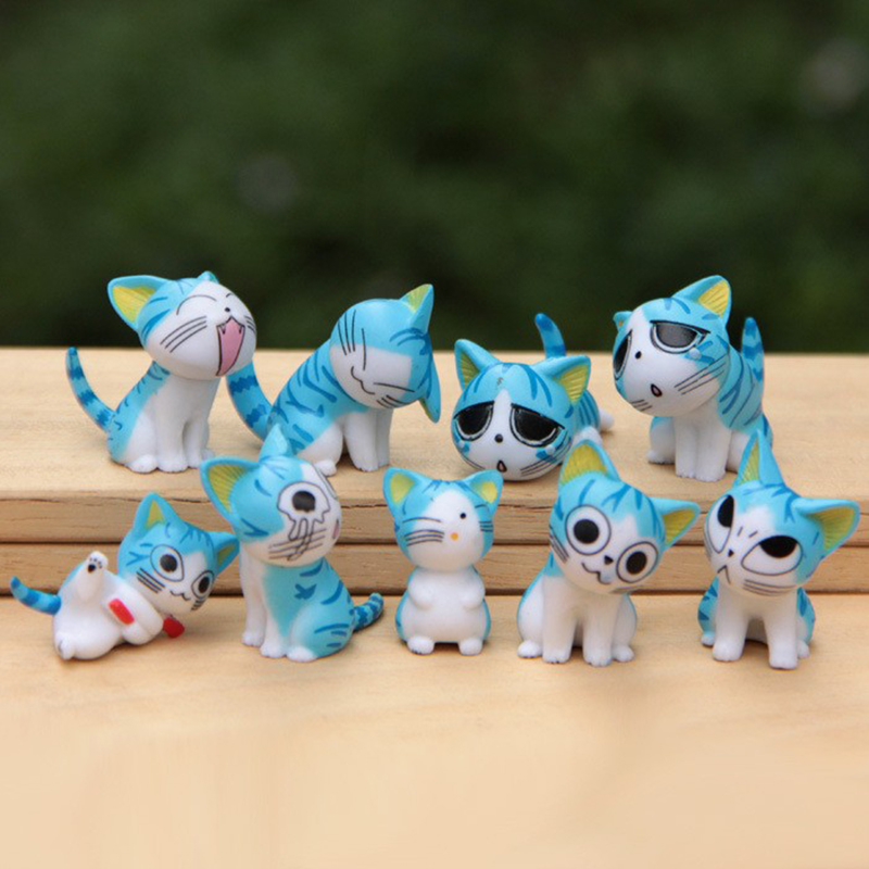 MiniCat 9pcs set Chi 39 s Sweet Home Cats Figures Animal Decoration Action Figures Collection Model Toys 3cm Cute Mini toy WX114 in Action amp Toy Figures from Toys amp Hobbies