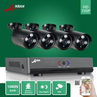 ANRAN Surveillance 4CH HDMI 1800N AHD DVR 1800TVL 720P 3 Array IR Night Outdoor Waterproof Video