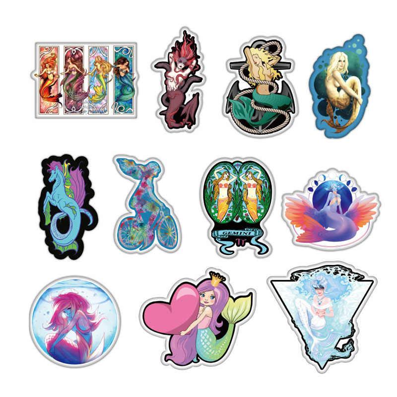 50 ピース/バッグ人魚姫の女の子ステッカーパックスクラップブックスーツケーススケートボードのラップトップ落書き防水ステッカー古典的な子供のおもちゃ