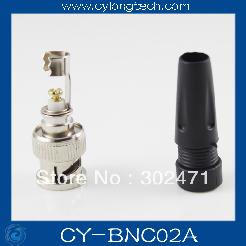 CCTV Camera Cable BNC Free Welding Head / Q9 Head(Glue+Metal) Straight