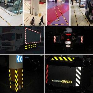 Image 5 - 25mm x 10m decoração do carro marca de segurança motocicleta fita reflexiva adesivos estilo do carro para automóveis material seguro