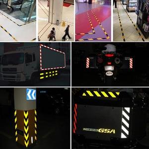 Image 5 - 25mm x 10m dekoracja samochodu znak bezpieczeństwa motocykl naklejki odblaskowe Car Styling dla samochodów bezpieczny materiał