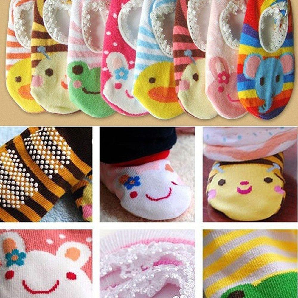 Baby Toddler Anti Non Slip Socks Slippers Cute Cartoon Animal Printed Soft Kids Socks Slippers High Quality