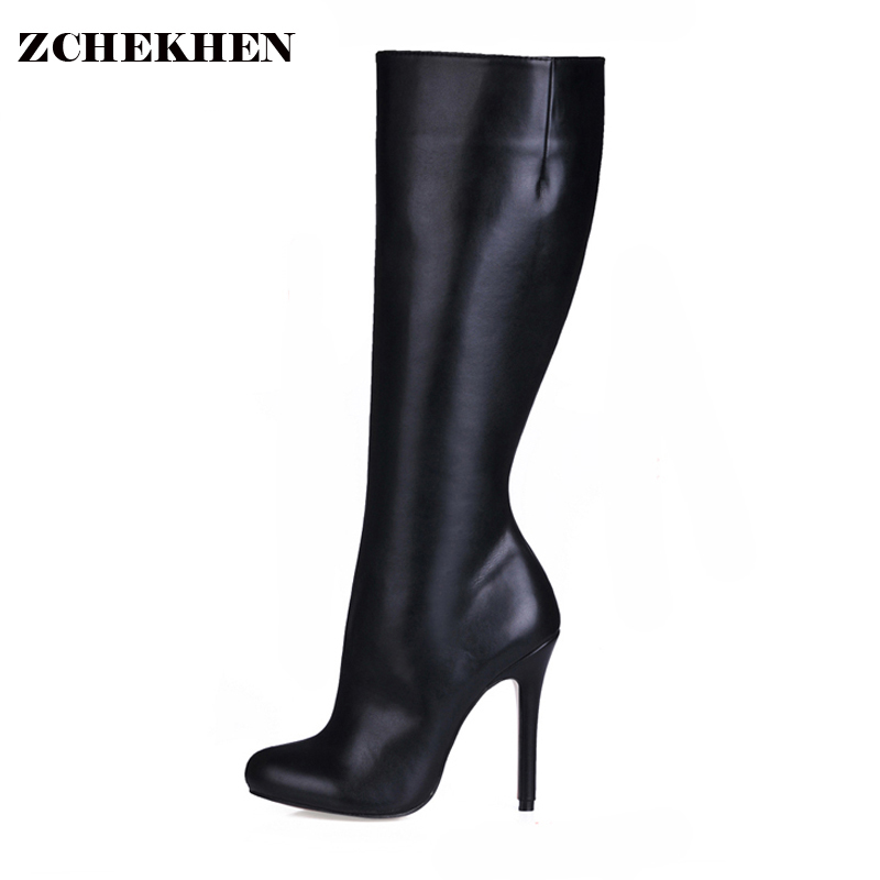 Fashion Over The Knee Thigh High Boots Women Extreme High Heel Pointed Toe Boots Sexy Black Long Boots for Dance women over the knee boots black velvet long boots ladies high heel boots sexy winter shoes chunky heel thigh high boots