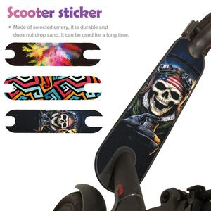 Image 2 - New Pedal Matte Mat Sticker Waterproof Sunscreen Personalized Sandpaper Scooter Sticker For Xiaomi M365 Electric Scooter Sticker