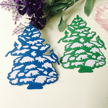 Christmas Snow Tree Metal Cutting Dies for Scrapbooking DIY Album Embossing Folder Paper Card Maker Template Decor Stencils Dies merry christmas trees sticker painting stencils for diy scrapbooking stamps home decor paper card template decoration album