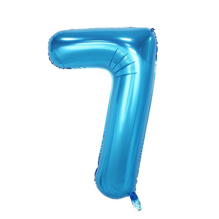 32 дюйма розовый синий 40 дюймов красный фольгированный шар большой гелиевый номер 0-9 Globo день рождения для детей Вечеринка мультфильм шляпа Декор - Цвет: blue 7
