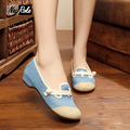 Fashion designer embroidered shoes women solid floral women flats shoes casual walking ladies canvas shoes tenis feminino lona