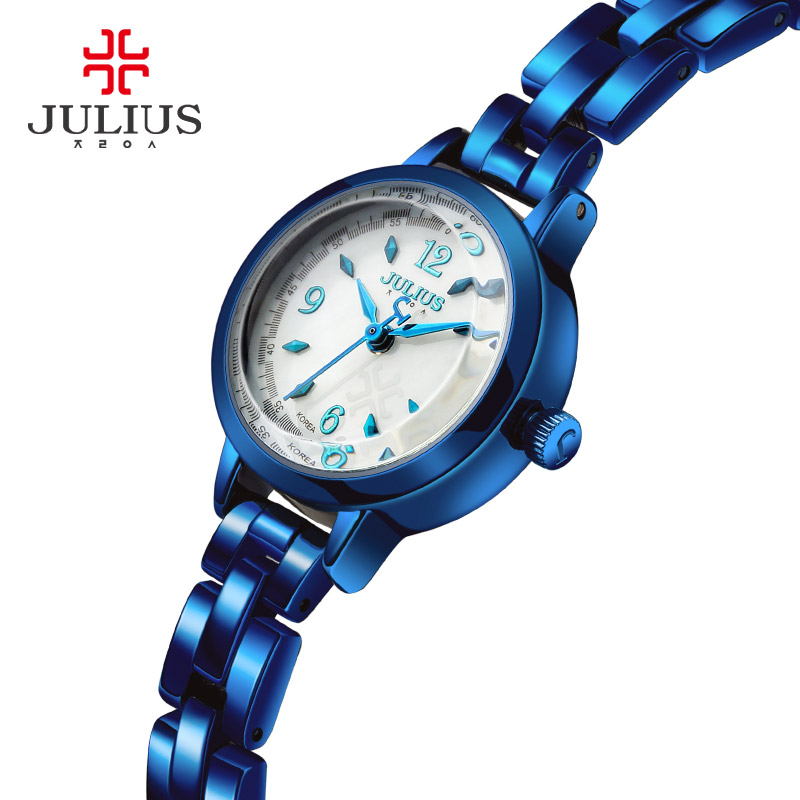JULIUS Retro Reloj Mujer Ladies Dress Watches Luxury Watch Erkek Kol Saati Clock Stainless Steel Rose Gold Shell Dial Gift Box julius quartz watch ladies bracelet watches relogio feminino erkek kol saati dress stainless steel alloy silver black blue pink