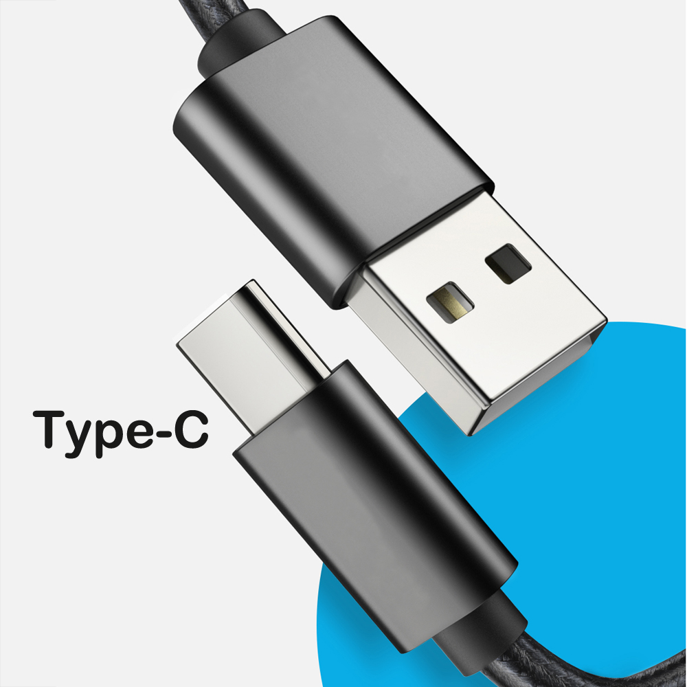 REZ Type C USB Cable Fast Charging USB C Data Usb-C For Huawei Samsung S10 S9 Xiaomi MI 8 Redmi Note 7 Type-C USBC Charger Cable