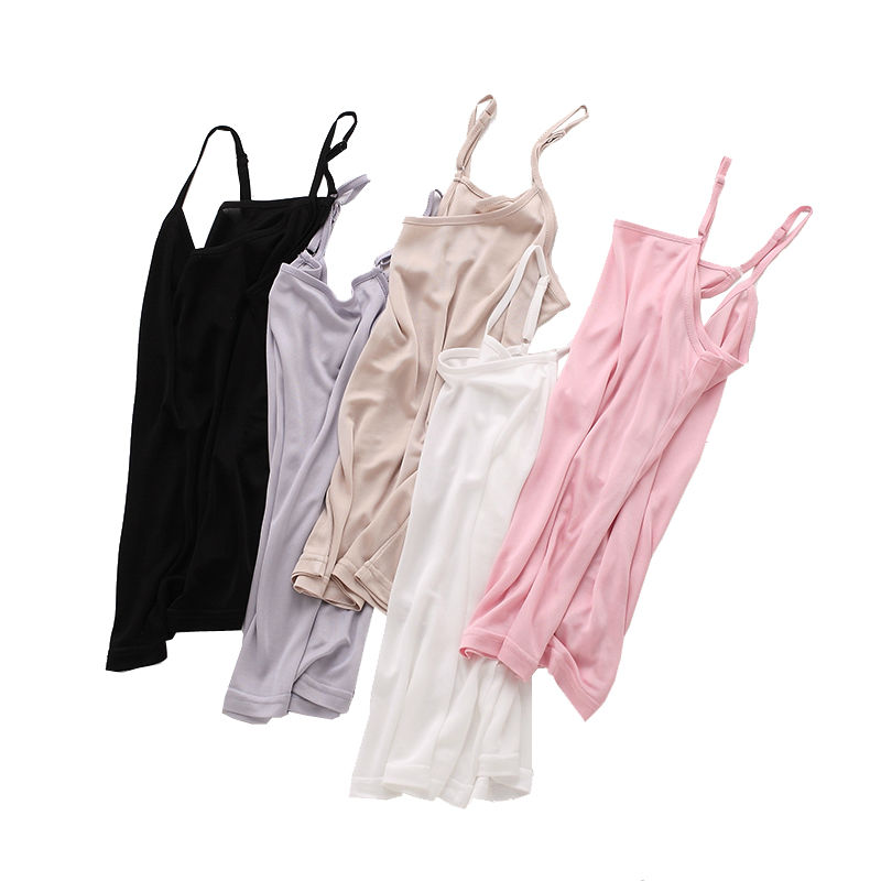 Women's Clothing ... Tops & Tees ... 32818739975 ... 3 ... 3pcs/lot Women silk Camis Natural silk Basic Camisoles Comfortable Silk tank tops 2019 Summer halter top Black White Nude Pink ...