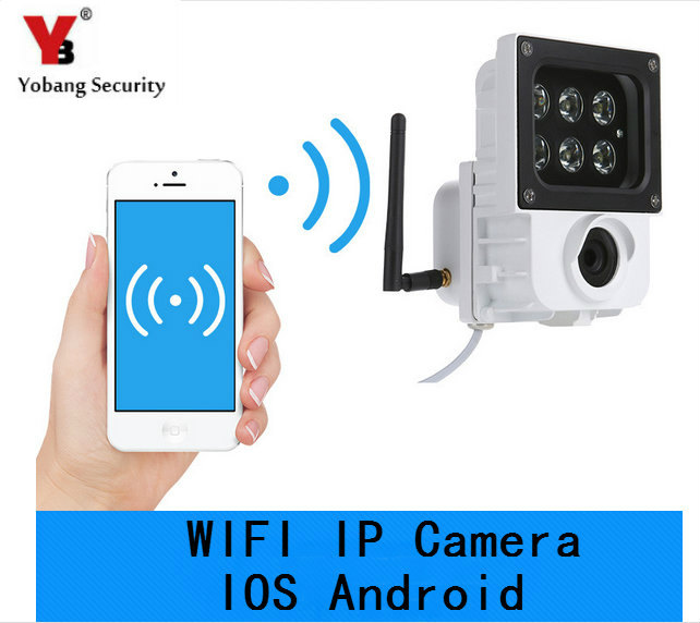 YobangSecurity 720P 1.0MP WIFI Wireless Outdoor DVR Security IP Camera 6 WHITE LED Light Lamp with TF Card Slot Video Recording yobang security 720p wifi wireless outdoor dvr security ip camera 6 white led light lamp with tf card slot video recordin camera