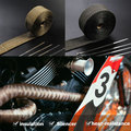 """Heat Exhaust Thermo Turbo Wrap Tape 2"""" X 5M/10m Fireproof Cloth Roll Black 1022C Car Insulation"""