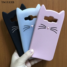 Innovation Animal Phone Case For Samsung Galaxy S6 S7 Edge S8 Plus J2 J5 J7 Prime 2016 Cute 3D Mustache Cat Soft Silicone Cover аксессуар чехол книга innovation для samsung galaxy j2 2018 book silicone silver 11475