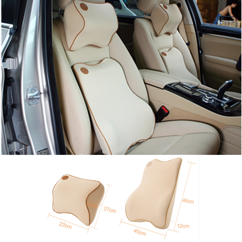 இ1 Set Seat Supports Lumbar Advanced Headrest Car Lumbar Cushion ...