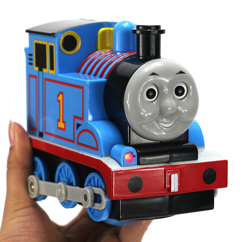 Free Shipping High Quality Plastic Electric Thomas And Friends Toy Train 2xAA Battery Power Engine Toy Train For Children #DS