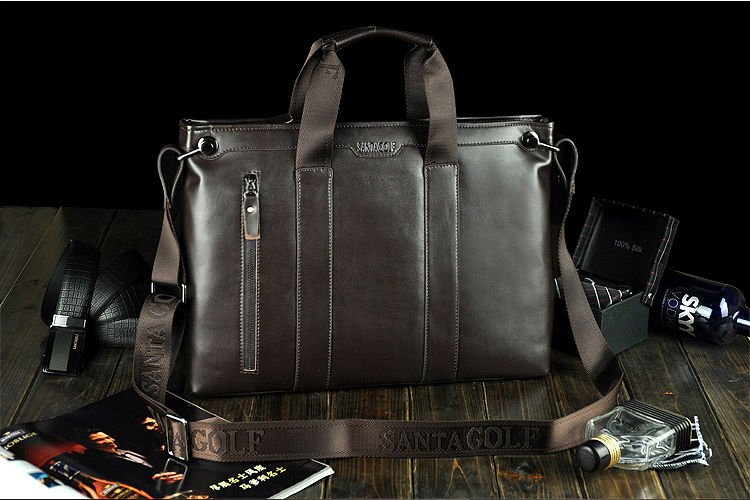 ФОТО New Arrival fashion genuine cow leather briefcase, high quality oxhide laptop bags for men, big size vintage men business bag