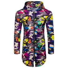 New Mens jackets and coats AOP Camouflage Club Zip Full Hoody Hoodie men's casual Jacket brand coat fashion man men