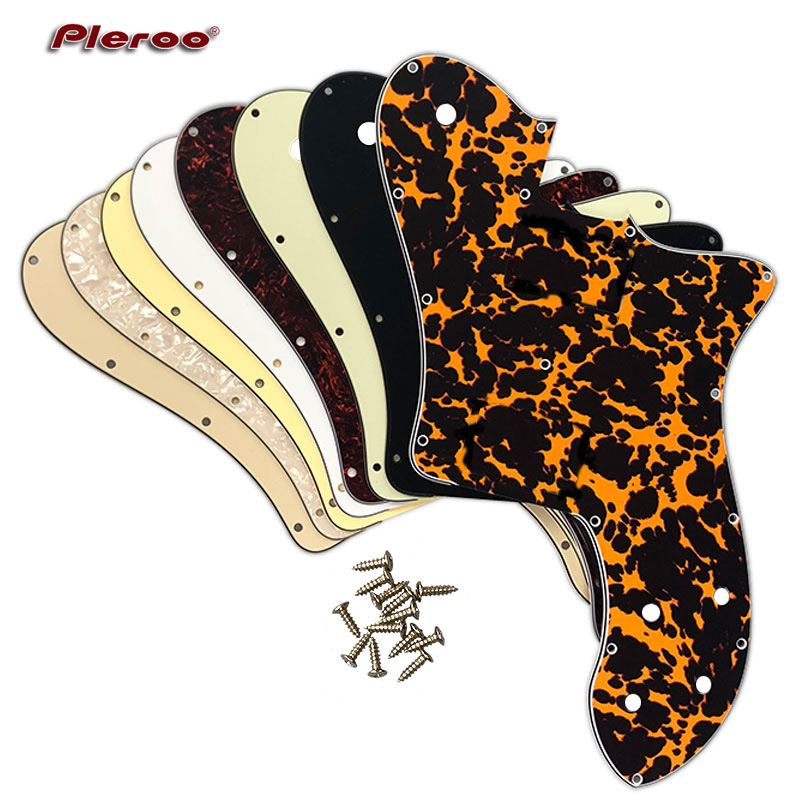 Pleroo Custom Guitar Parts - For US FD 72 Tele Deluxe Reissue Guitar Pickguard Without Pickup Replacement