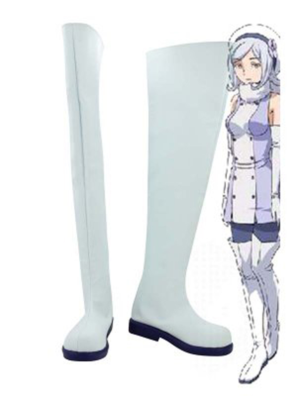 Gundam Build Fighters Aila Jyrkiainen White Cosplay Boots Shoes Anime Party Cosplay Boots Custom Made for Adult Women Shoes