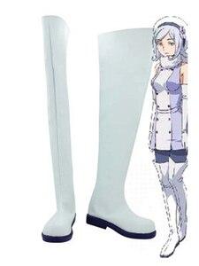 Gundam Build Fighters Aila Jyrkiainen/белые ботинки для костюмированной вечеринки; Вечерние ботинки для косплея в стиле аниме; Женская обувь на заказ