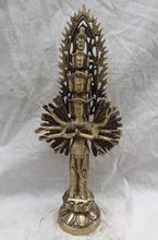 "14 ""el Tíbet Bronce Budista 1000 Mano Brazos Avalokitesvara kwan-yin Estatua de Buda"