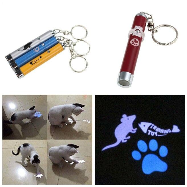 ⊰Portable creativo y divertido Juguetes para gatos LED puntero ...