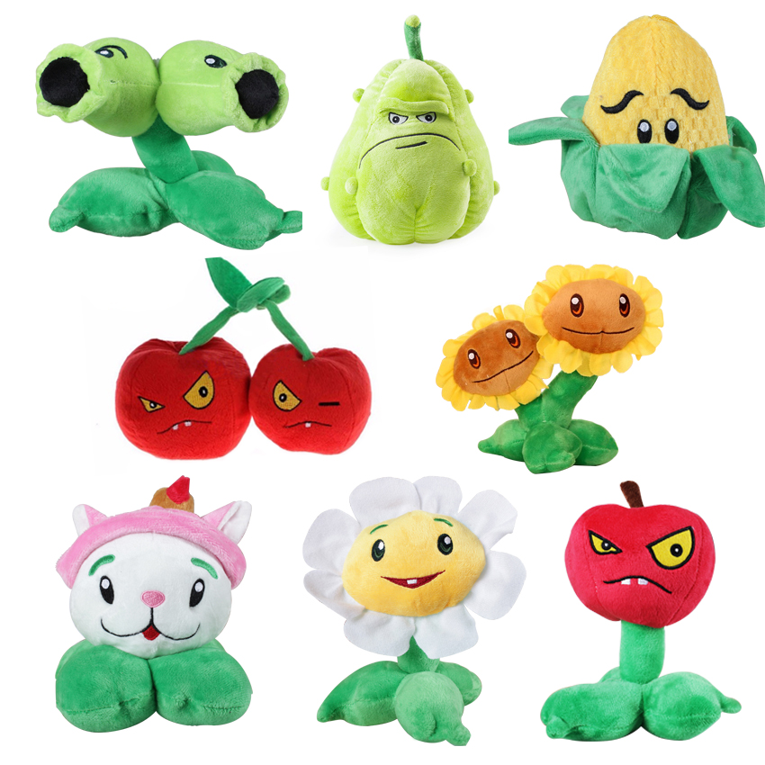 1pcs 10-18cm 8 Styles Plants vs Zombies Plush Toys Soft Stuffed Plush Toys Doll Baby Toy for Kids Gifts Party Toys 1pcs 48 style pc game plants vs zombies plush toys plants soft plush dolls stuffed doll figure toy for kids children gift m1 8