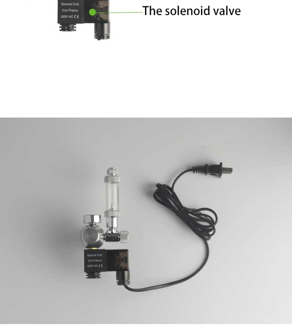 ZRDR Aquarium CO2 Regulator Magnetic Solenoid Check Valve Aquarium Bubble  Counter Fish Tank Tool Pressure reducing valve