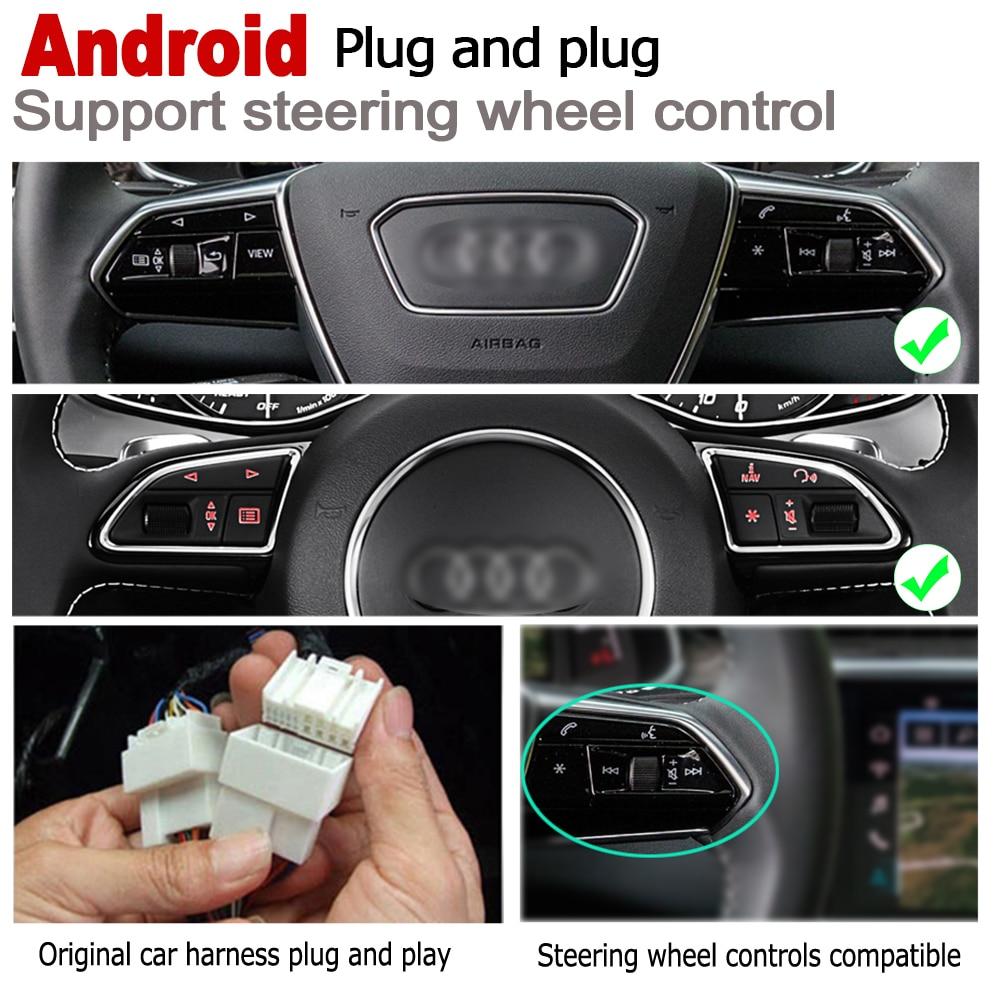מערכת ניווט GPS 2 דין אנדרואיד 8.0 עד נגן רדיו DVD לרכב עבור 8H 8E RS4 אאודי A4 S4 2002 ~ 2008 מערכת מולטימדיה ניווט MMI GPS WIFI BT AUX (5)