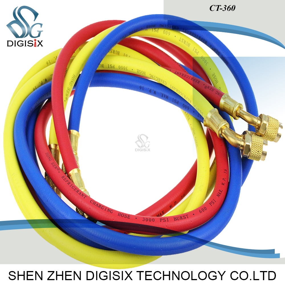 Free shipping CT-360 1.5m High quality air conditioning refrigerant filling pipe three-color tube refrigerant pipe  цены