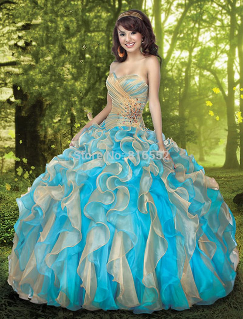 Online Get Cheap Quinceanera Dresses Blue with Gold -Aliexpress ...
