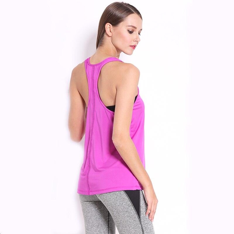 Запуск Спорт Рубашки 2017 Новых Женщин Эластичный Racerback Топы Yoga Рубашки Женщин Yoga Спорт Рукавов Рубашки Женщины Фитнес