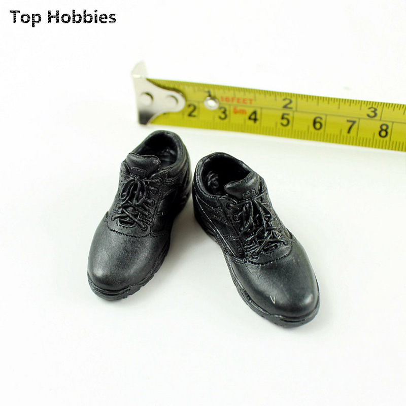1/6 doll model accessories Black boots shoes casual shoes The spot