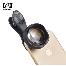 APEXEL 3X Telephoto Lens Portable Glass Lens Compatible With iPhone Samsung HTC RedMi Huawei Cellphones APL- 85MMH
