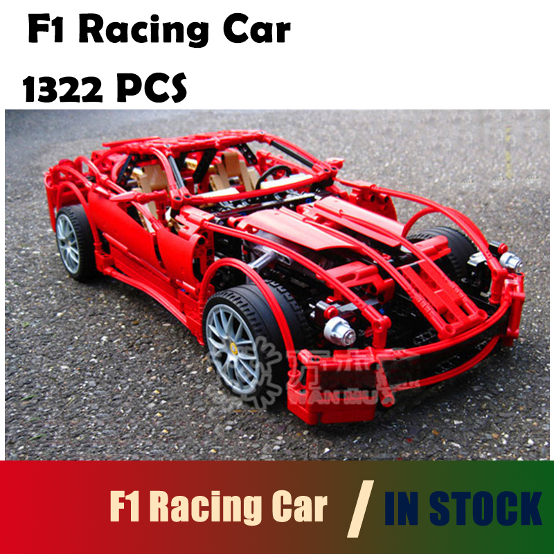 Compatible with lego city Model building kits 3333 F1 racing 1:10 car 8145 building blocks Educational toys hobbies for children