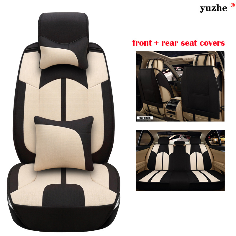 Yuzhe Universal car seat covers For Land Rover Discovery Sport freelander Range Sport Evoque Defender car accessories styling