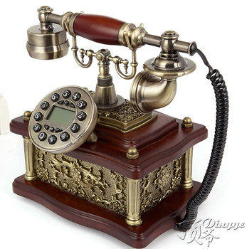 Ye are the top antique European Garden retro telephone landline telephone landline phone home office Decoration home art backlit