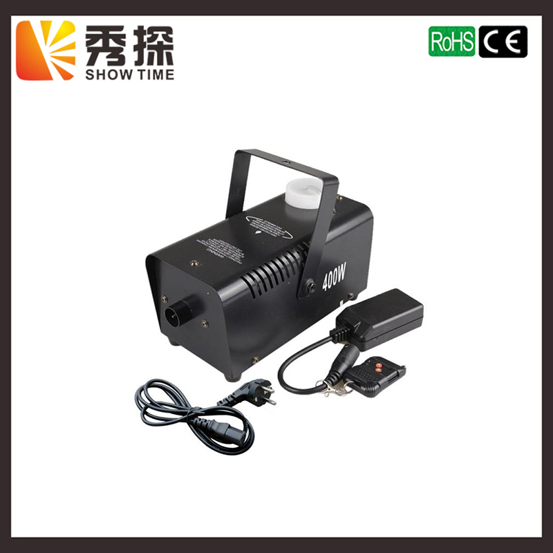 (Show Time)Remote Control LED 400W fog machine/RGB Color change smoke machine Happy and fairyland effect for wedding and dance professional fog machine 400w mini smoke machine with wireless remote for wedding effects event party