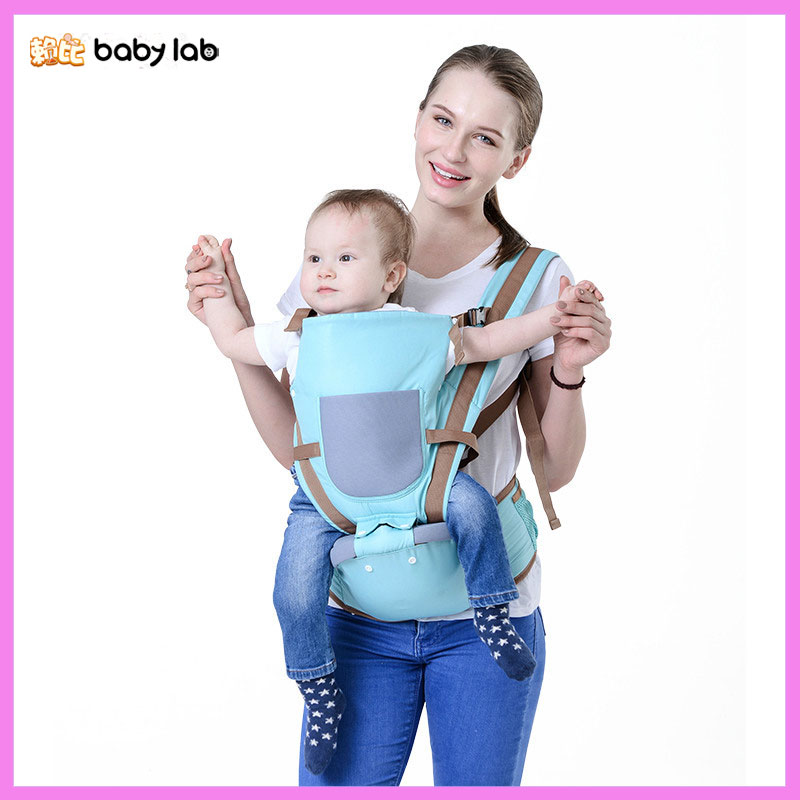 Babylab Ergonomic Baby Backpack Carrier Newborn Safety Straps Multi Function Waist Stool Hip Seat Infant Kangaroo Carrier Sling